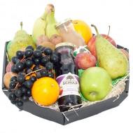 Fruitmand met twee flesjes sap bezorgen in Kwadendamme