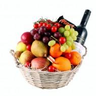 Fruitmand met Wijn bezorgen in Leeuwarden