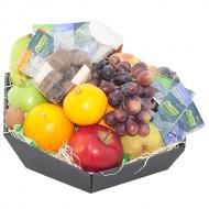 Fruitmand seizoensfruit met thee en chocolade bezorgen in Almere